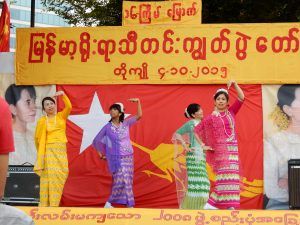 ミャンマー,ビルマ,ダディンジュ祭り,中野,国民民主連盟,スーチー,紅茶,NLD,ワダ・トゥトゥ